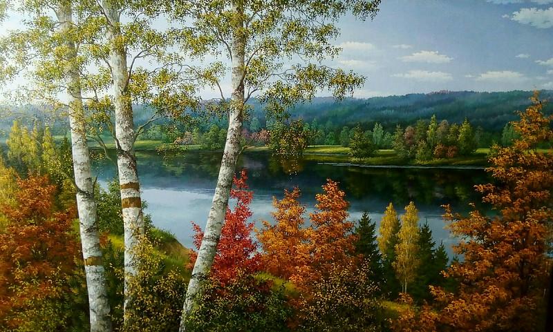"""""""Autumn"""" (oil on canvas) by Ina Kuchynskaya"""