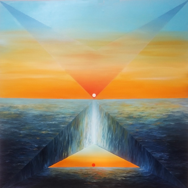 """Geometric sea"" (oil on canvas) by Alina Gamalya"