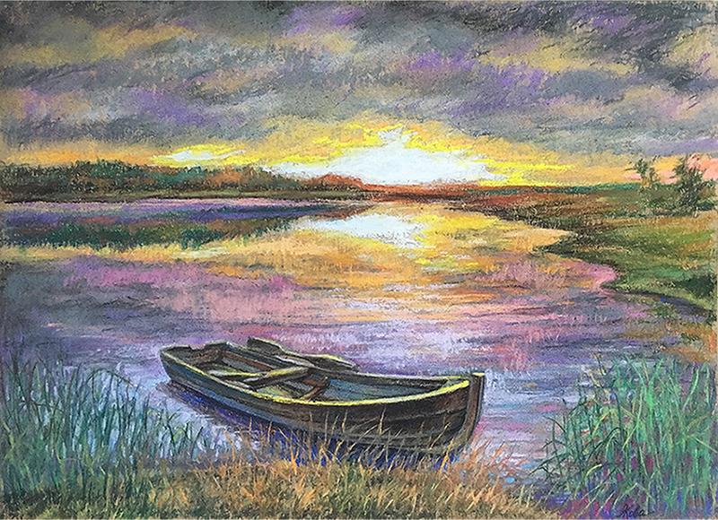 """Boat"" (pastel) by Alena Kovaleva"