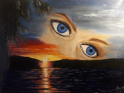"""Nature Eyes"" (oil on canvas) by Adriana Calichio"