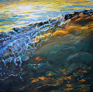"""Wave"" (oil on canvas) by Dmitry Morozov"
