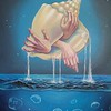 """Water. The Origin Of Life."" (oil on canvas) by Katerina Pathak"