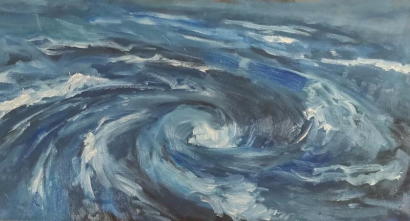 """Whirlpool"" (oil on canvas) by Anastasia Shchapova"