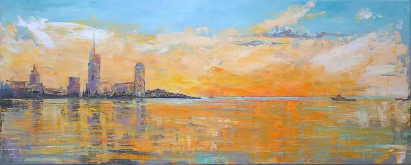 """""""Batumi"""" (oil on canvas) by Kateryna Ivonina"""