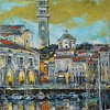 """Piran"" (oil on canvas) by Kateryna Ivonina"