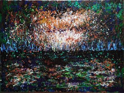 """""""Dark water"""" (acrylic on canvas) by Mariana Blinova"""