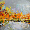 """November flash"" (oil on canvas) by Kateryna Ivonina"