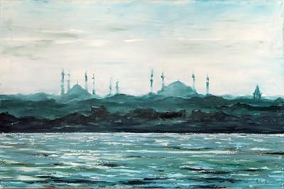 """Istambul"" (oil on canvas) by Kateryna Ivonina"