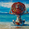 """""""Happy hats"""" (oil on canvas) by Kateryna Ivonina"""