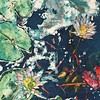 """""""Pond-emic Activity"""" (watercolor and wax) by Deborah Reitbauer"""