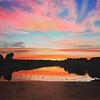"""""""Lake Sunset"""" (pastel) by Miranda Van Orden"""