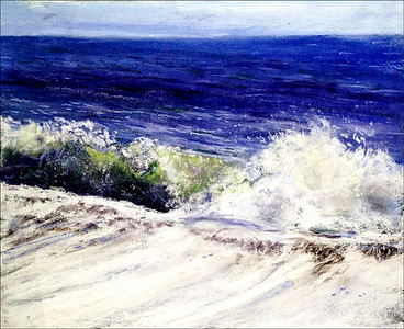 """The Waves"" (pastel) by Tobi Abrams"