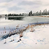 """First snow at the lake"" (pastel) by Masha Novoselova"