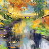 """Ruska season in Finland"" (pastel) by Masha Novoselova"