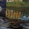 """Flows Under the bridge"" (oil on cardboard) by Alena Frolova"