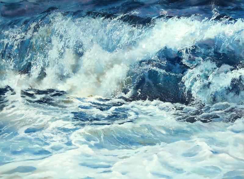 """""""Shorebreak"""" (pastel) by Dolores Saul"""