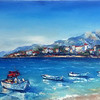 """Sea Calm"" (oil on canvas) by Kateryna Ivonina"