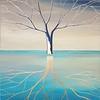 """Tree of life"" (acrylic, gold leaf on canvas) by Iuliia Fedotova"