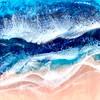 """Blue Wave"" (epoxy resin) by Julia Kordes"