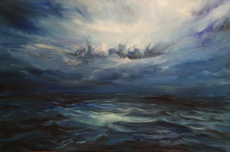 """Nobody's here"" (oil on canvas) by Sas Liubou"