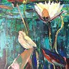 """Under water"" (acrylic) by Tanya Sava"