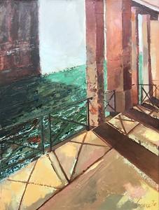 """Venice Breath in 2"" (oil on canvas) by Diana Anna Cine"