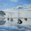 """""""Reflection of silence"""" (oil on canvas) by Victoria Trush"""