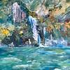 """Waterfall"" (oil on canvas) by Tatiana Sergeeva"