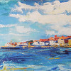 """Portorozh"" (oil on canvas) by Kateryna Ivonina"
