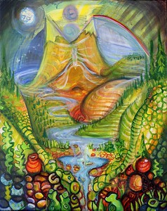 """""""River of Life"""" (acrylic) by Rae Grondahl"""