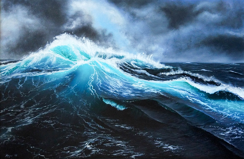 """""""The storm"""" (oil on canvas) by Victoria Trush"""