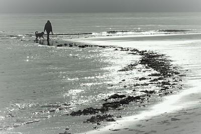 """Homer Beach Walk"" (photography) by Kathy Brady"