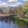 """Shohonka River"" (oil on canvas) by Oksana Sotnikova"