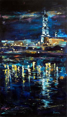 """Kharkov"" (oil on canvas) by Kateryna Ivonina"