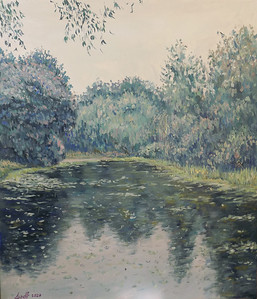 """""""The Crying Pond"""" (acrylic on canvas) by Natalia Gorn"""