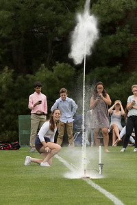 Gretchen Silverman's Algebra 1 class fires off water bottle rockets