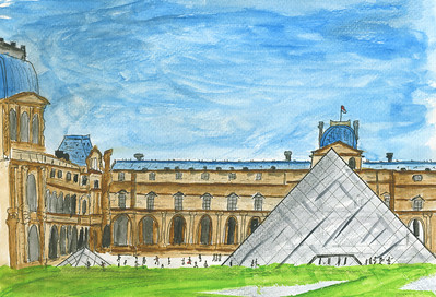 Pyramid At The Louvre - Paris