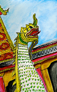 Naga At Thai Temple
