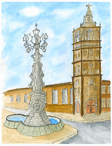 Giraldi Tower and Lamppost - Kansas City