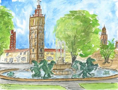 Kansas City Plaza Fountain