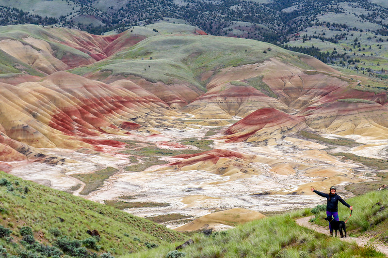 Hiking in the Painted Hills, Oregon