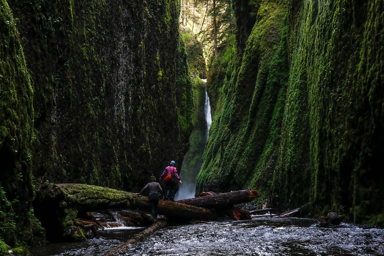 Exploring Oneonta Gorge in the Columbia River Gorge