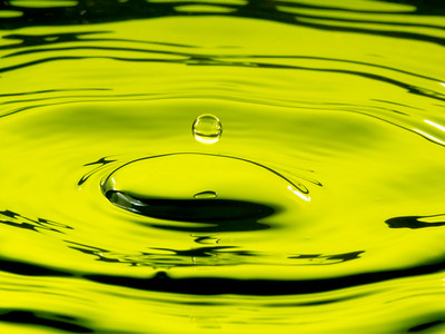 Yellow Green Water Drop Splash