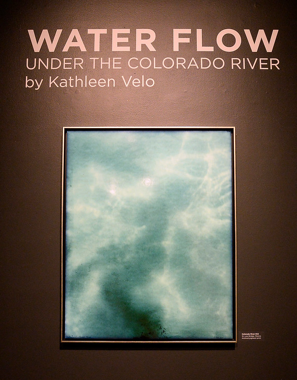 . LONGMONT, CO: January 30, 2019:  Water Flow: Under the Colorado River, created  by  photographer, Kathleen Velo, is a new exhibit at the Longmont Museum.   (Photo by Cliff Grassmick/Staff Photographer)