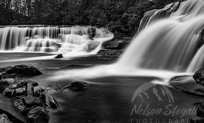 French Broad Falls and Mill Shoals Falls, Balsam Grove, NC