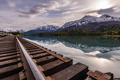 Reflecting Mountains along the Rail Road