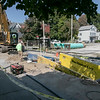 A water main was going in on Elm Street in Fitchburg on Wednesdsay morning. SENTINEL & ENTERPRISE/JOHN LOVE