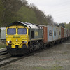 66537 heads east with 4L93 Lawley Street - Felixstowe liner