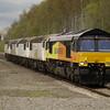 66847 heads 0Z56 Crewe TMD - Kingsbury scrapyard - Burton WRD comprising 56051 , 56065, 56078 and 56049