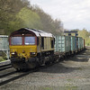 66020 heads towards Birch Coppice on 4M74 from Ipswich